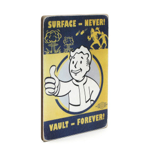 "Постер ""Fallout. Surface — never! Vault forever"""