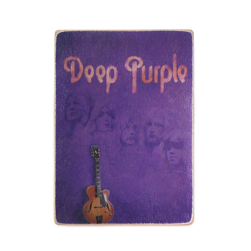 "Постер ""Deep Purple. Дип Перпл. Арт с гитарой"""